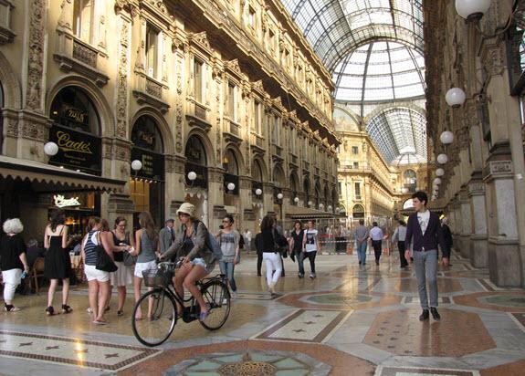Galeria Milán: de compras por la ciudad