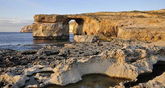 La Ventana Azul, en Gozo, es uno de los lugares más famosos de Malta