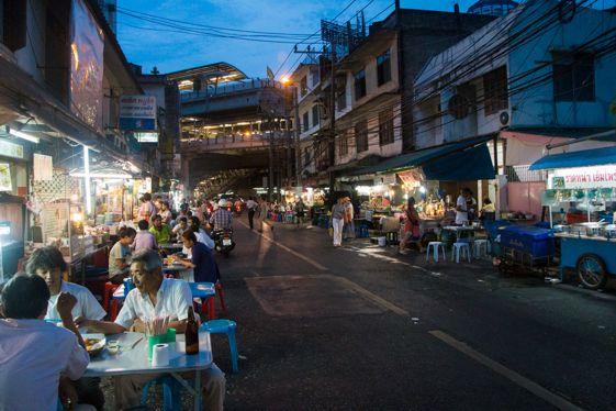 Comida callejera -street food- en Bangkok