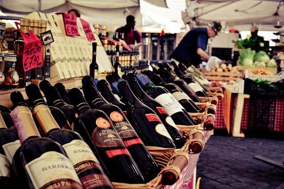 Una tienda de vino ubicada en la zona del Vaticano