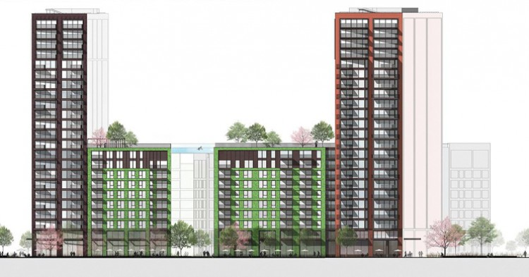 Piscina vertiginosa de Embassy Gardens Legacy Buildings, Londres (HAL architects)