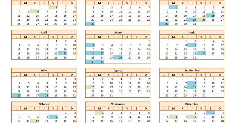 Calendario Laboral 2016 (El Viajero Fisgón)