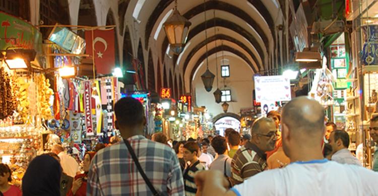 El Gran Bazar Estambul (Emilio Leighton)