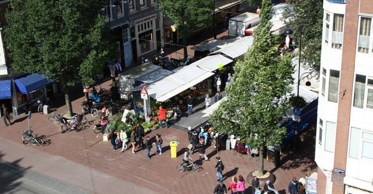 Vista aérea de Dappermarkt.  Bram Boerboom (Flickr)