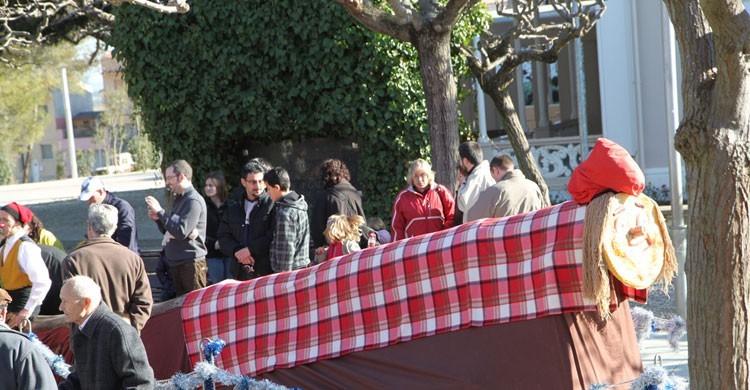 Uno de los populares Caga Tió catalanes (Flickr)