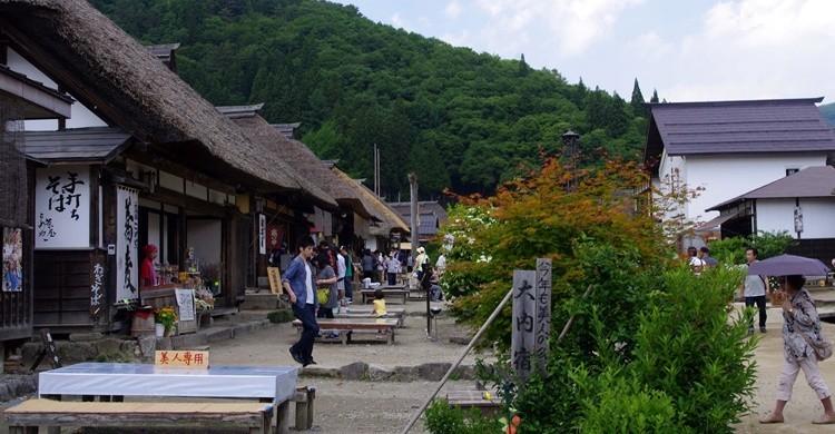 Aspecto parcial de Ouchijuku. bluXgraphics(motorcycle design Japan)=Midorikawa (Flickr)