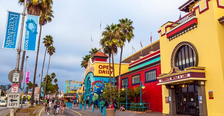 Parque Boardwalk Beach en Santa Cruz (iStock)
