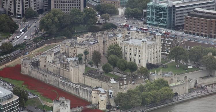 Vista aérea de la Torre de Londres. Rick Ligthelm (Flickr)