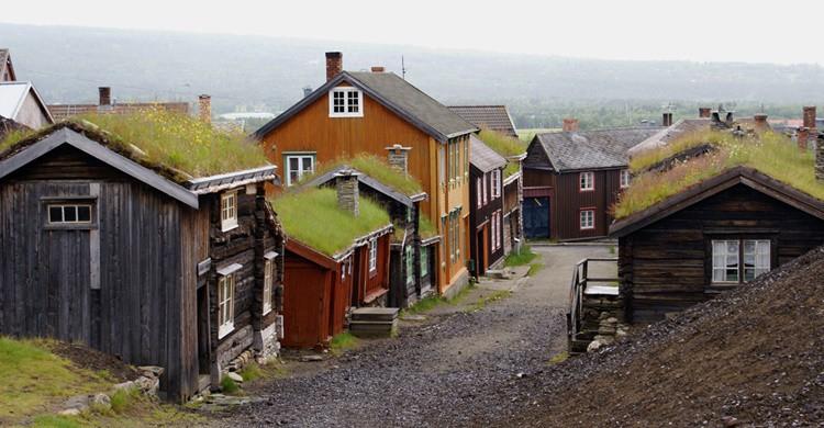 Røros, con sus típicas casas y tejados 'verdes'. Randi Hausken (Flickr)