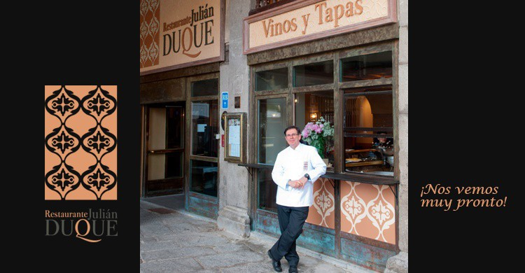 Imagen de Julián Duque, en una imagen tomada de su web. (http://restaurantejulianduque.com/#restaurante)