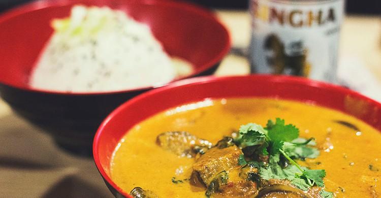 Curry thai. Tuk tuk