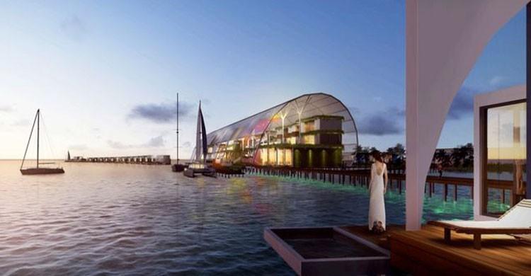 Futuro acceso principal al Blackadore Hotel de Leonardo DiCaprio (Flickr)