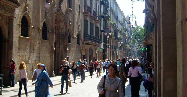 Barrio Gótico de Barcelona (Flickr)