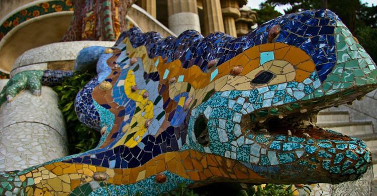 Dragón del Parque Güell. Ian Gampon (Flickr)