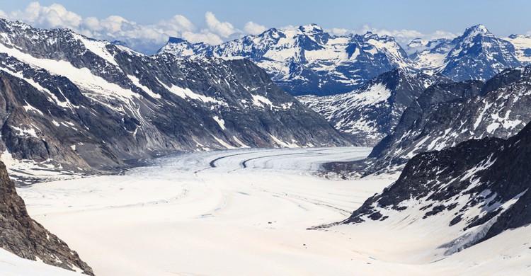 Glaciar Aletsch, en Suiza (iStock)
