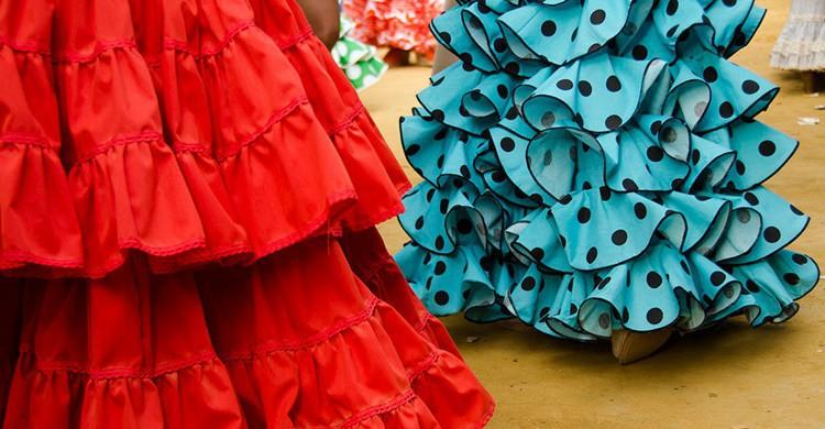 Volantes de unos trajes de sevillanas. Sandra Vallaure (Flickr)