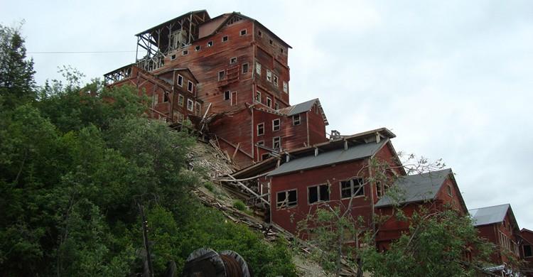 Kennecott, con sus casas de madera abandonadas. Mazaletel (Flickr)