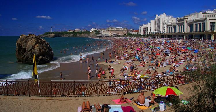 Playa de Biarritz. Guillaume Baviere (Flickr)