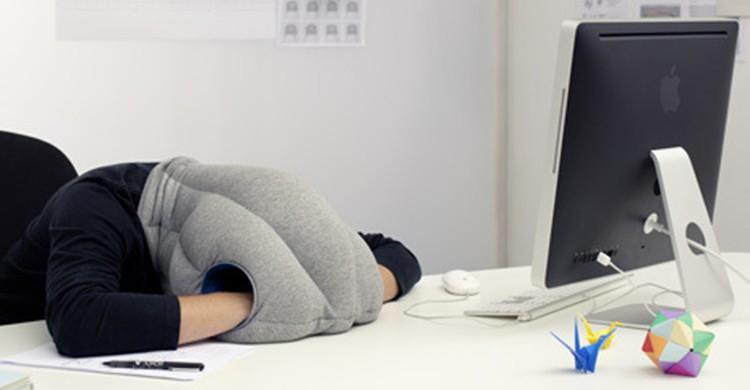Almohada Ostrich Pillow. Day Donaldson (Flickr)