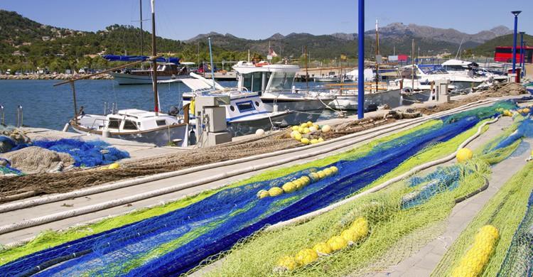 Redes de pescador en Port d'Andratx. LUNAMARINA (iStock)