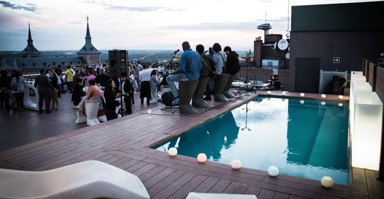Inauguración de la piscine. Exe Moncloa (Facebook)