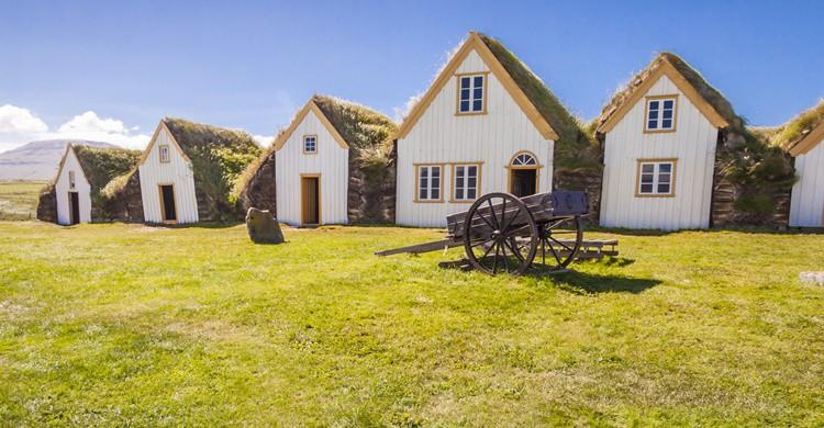 Típicas casas islandesas. Parys (iStock)