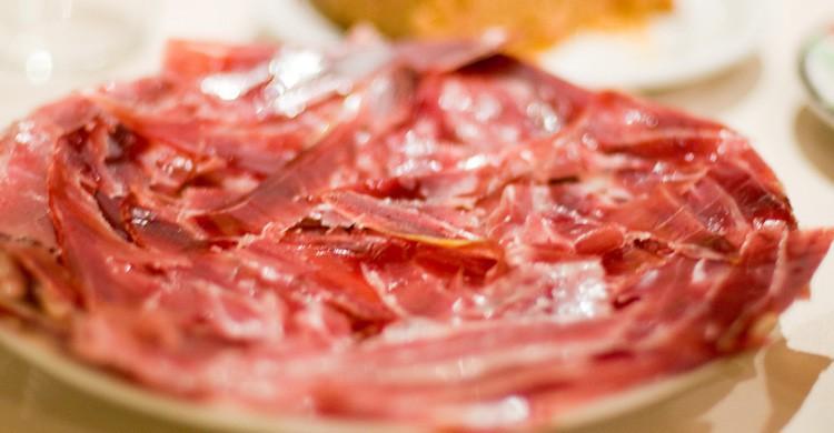 La deliciosa tapa de jamón en Madrid (Flickr)