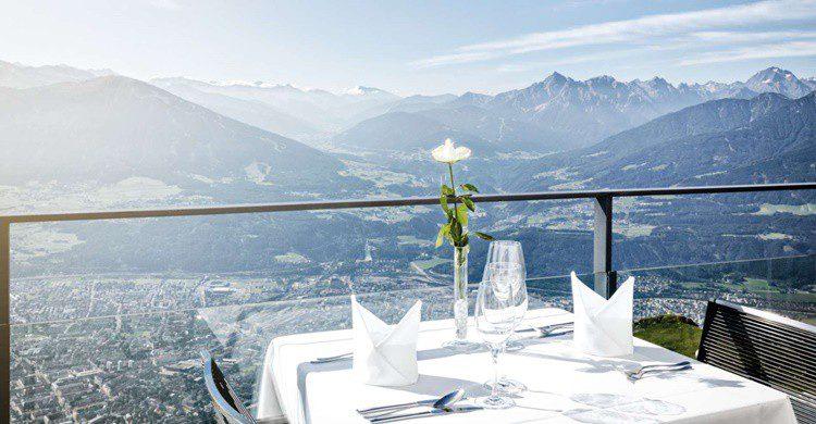 Mesa en el restaurante Seegrube en Nordkette (http://www.nordkette.com)
