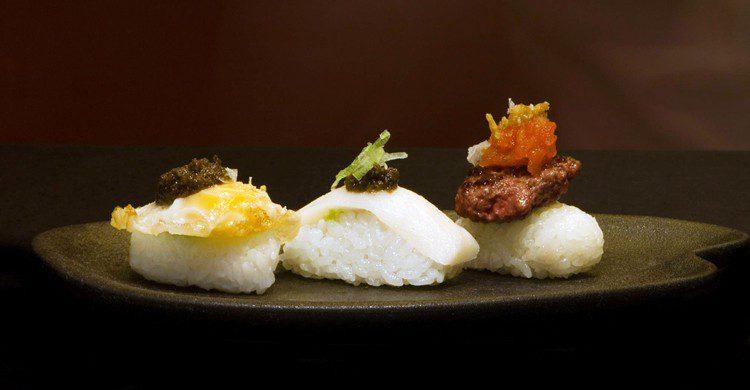 Trilogía de nigiris (Restaurante Grupo Kabuki, Facebook)