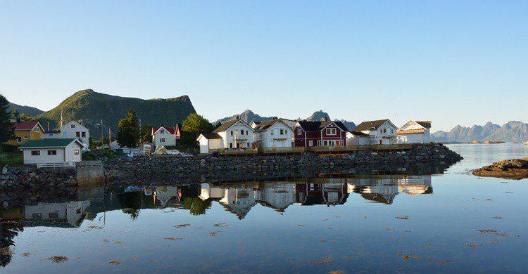 Kabelvåg, en Noruega. Tristan Schmurr (Flickr)
