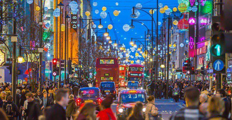 Oxford street, en Navidad. IR_Stone (iStock)