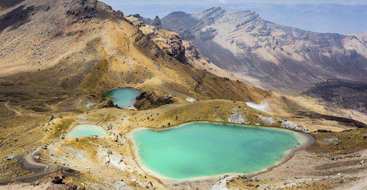 Lagos color esmeralda en el Parque Nacional de Tongariro. Olga_Danylenko (iStock)