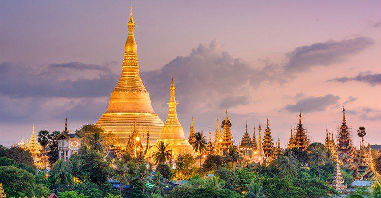 Pagoda de Shwedagon en Birmania. SeanPavonePhoto (iStock)