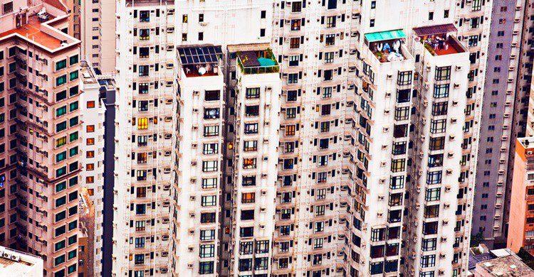 Gigantescos bloques de Kowloon en China. Meinzahn (iStock)