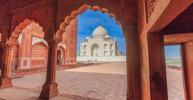 Vistas del Taj Mahal desde el patio