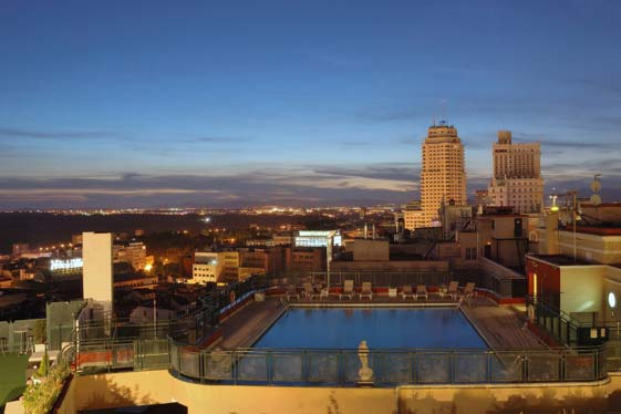 El Roof Garden del Hotel Emperador regala unas vistas inolvidables de Madrid