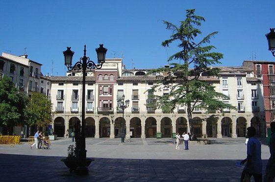 La plaza del Mercado, uno de los puntos neurálgicos de Logroño.