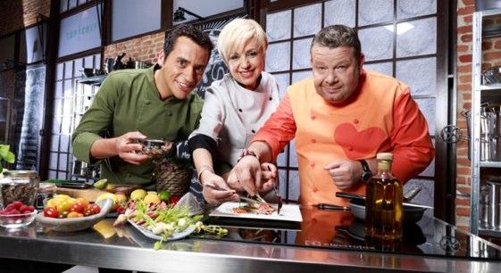 Alberto Chicote, Yayo Daporta y Susi Díaz, miembros del jurado televisivo de Top Chef España. Foto: Antena 3.