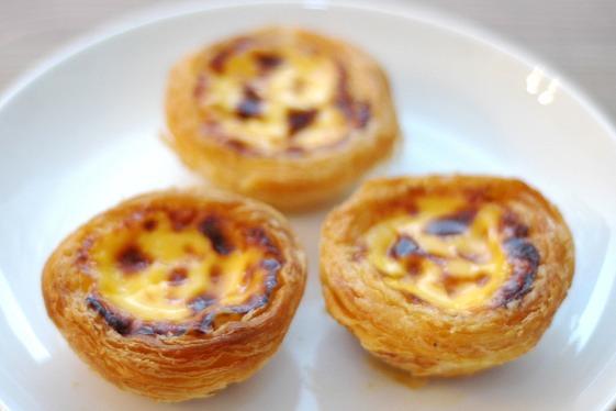 Los típicos pasteis de nata portugueses.