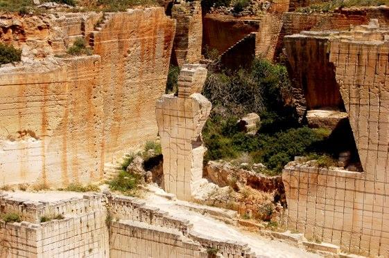 Las canteras de marès de Lithica, en Ciutadella, Menorca.
