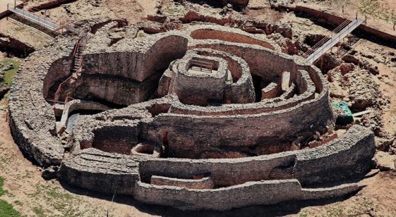 Yacimiento arqueológico de Motilla de Lazuer, en Daimiel (Ciudad Real)