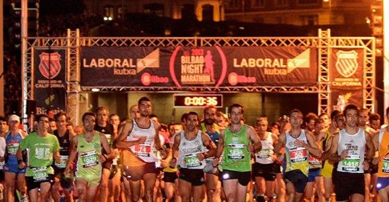 La salida y llegada del Maratón de Bilbao está en las puertas del Museo Guggenheim