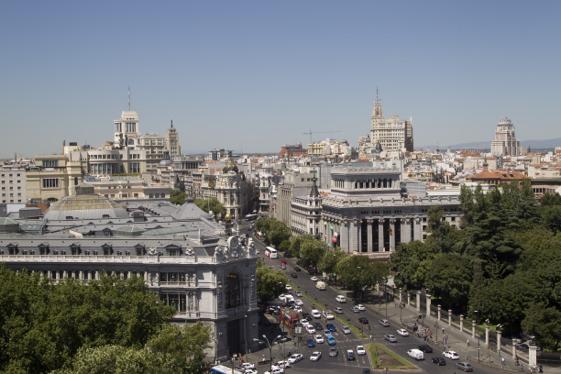 Vistas de Madrid desde CentroCentro Cibeles. Foto Sofía Menéndez