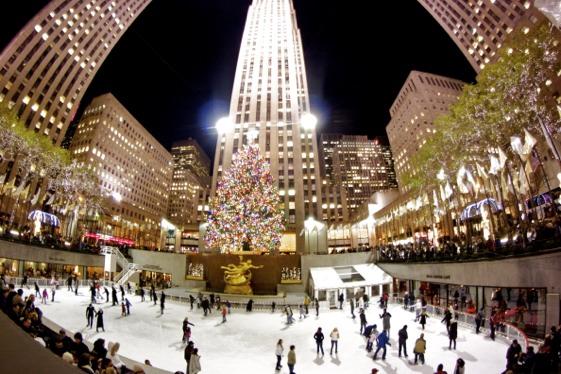 Rockefeller Center. Navidad con niños 2014 en Nueva York