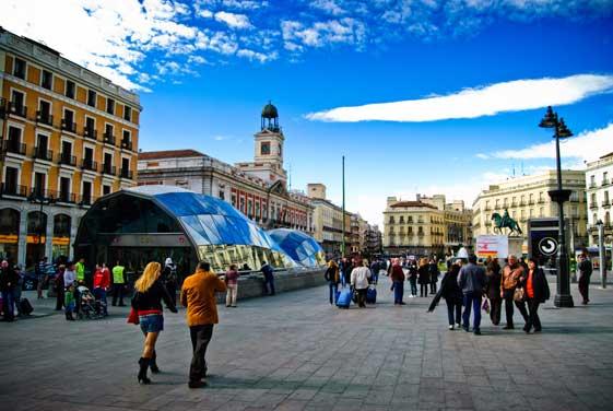 La Puerta del Sol, un referente en Madrid.