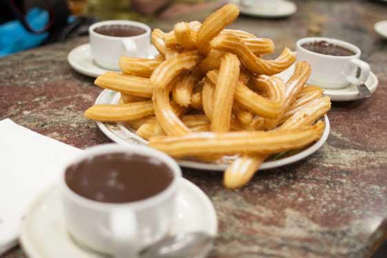 Los mejores churros de Madrid están en San Ginés.