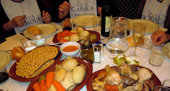 Así se presenta el cocido en Casa Carola. / Foto: Mover el Bigote