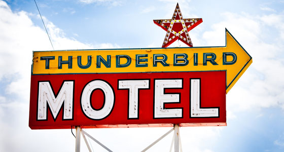 Thunderbird Motel (Bishop, California). Foto: Thomas Hawk