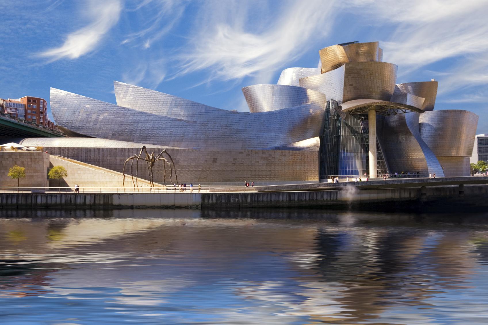 Guggenheim Bilbao museum reflection