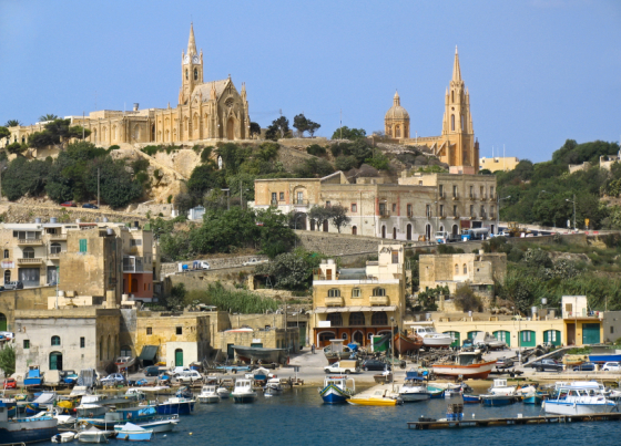 Harborr of Gozo, Maltese islands